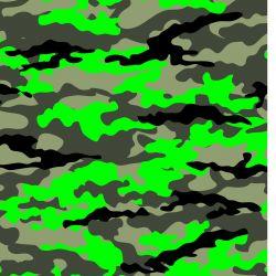 Kamufláž fluo zelená -digitální tisk