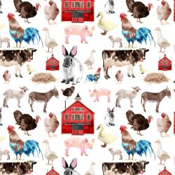 Farma s domem- -digitální tisk mavaga design
