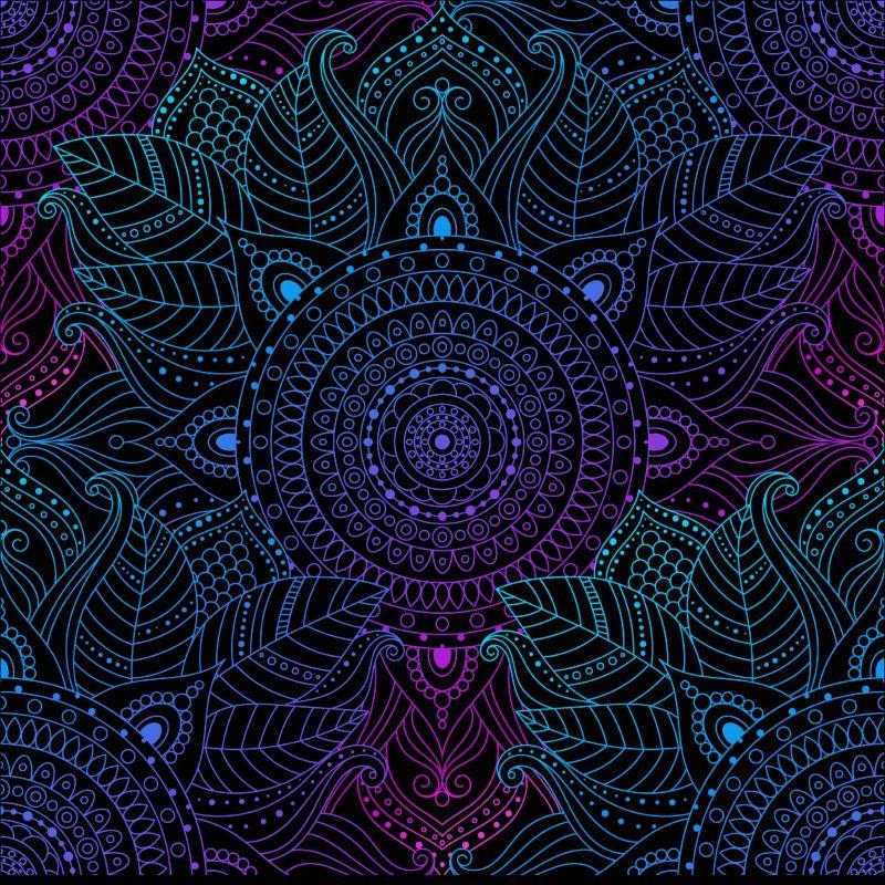 Mandaly modro-filaové - BERÁNEK mavaga design