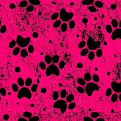 Tlapky fluo růžové-digitální tisk