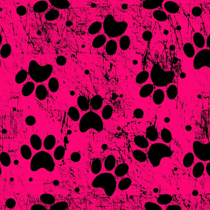 Tlapky fluo růžové-digitální tisk mavaga design