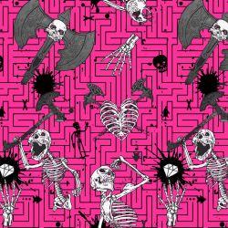 Kostry růžové- digitální tisk