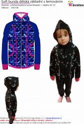 Elektronický střih -Soft bunda dětská základní s lemováním