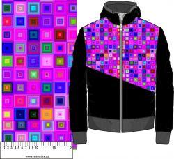 Růžové čtverce- digitální tisk mavaga design