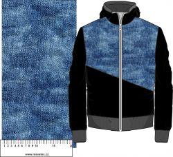 Jeans tmavě modrý- digitální tisk mavaga design