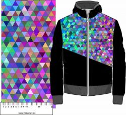 Barevné trojúhelníky- digitální tisk mavaga design