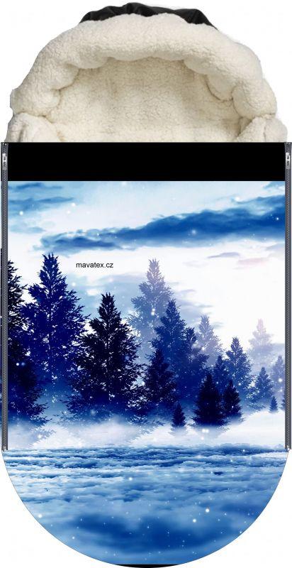 Panel na fusak zimní stromy vyrobeno v EU