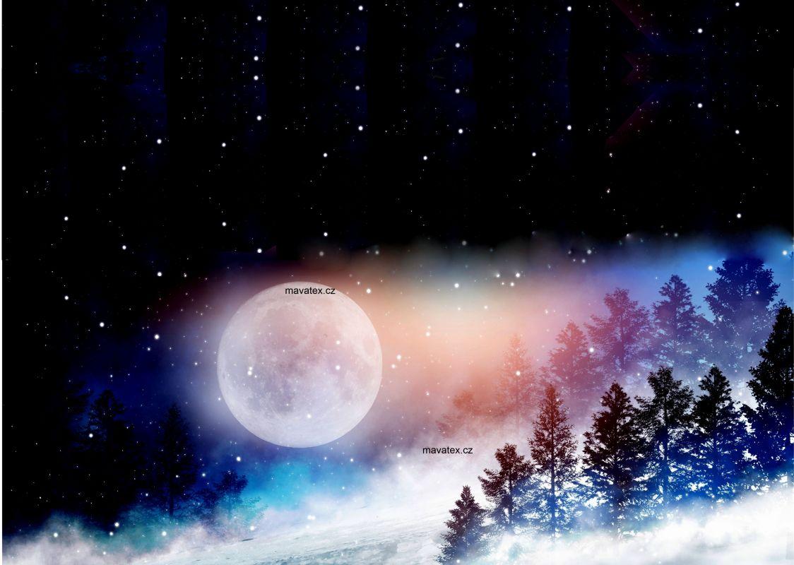 PANEL NA LEGINY /TRIKO -noční zimní nebe- GARZATO mavaga design