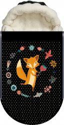 Panel na fusak malovaná liška