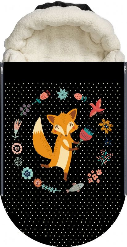 Panel na fusak malovaná liška vyrobeno v EU