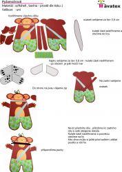 Pyžamožrout - opice kluk-bavlna vyrobeno v EU- atest pro děti bavlna