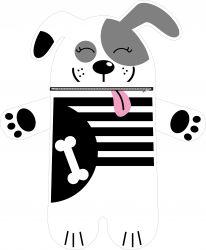 Pyžamožrout  - pejsek bílý-soft