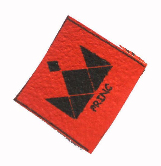 Koženkové čtverečky oranžové - 8ks vyrobeno v EU