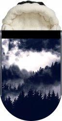 Panel na fusak černobílý les