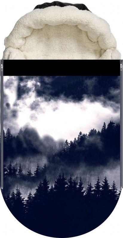 Panel na fusak černobílý les vyrobeno v EU