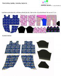 Panel oblečení na panenku vel 43 -panel 1 garzato vyrobeno v EU- atest pro děti bavlna