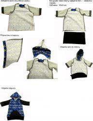 Panel oblečení na panenku vel 43 -panel 3 garzato vyrobeno v EU- atest pro děti bavlna