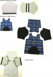 Panel oblečení na panenku vel 43 -panel 5 garzato vyrobeno v EU- atest pro děti bavlna
