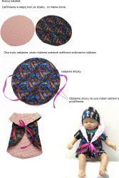 Panel oblečení na panenku vel 43 -panel 7 garzato vyrobeno v EU- atest pro děti bavlna