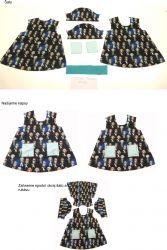 Panel oblečení na panenku vel 43 -panel 8 garzato vyrobeno v EU- atest pro děti bavlna