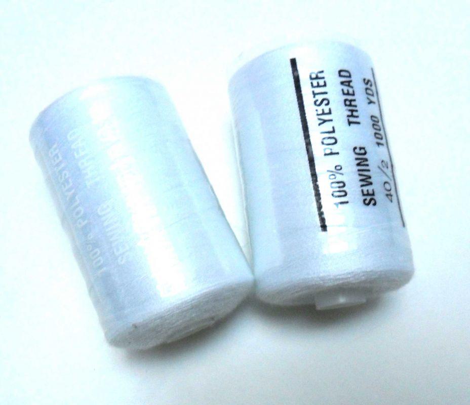 Nit bílá 40/2 -1000 m vyrobeno v EU