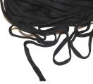 Plochá tkanice černá 0,8cm