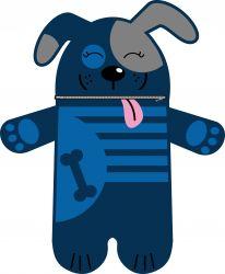 Pyžamožrout  - pejsek modrý-SOFT