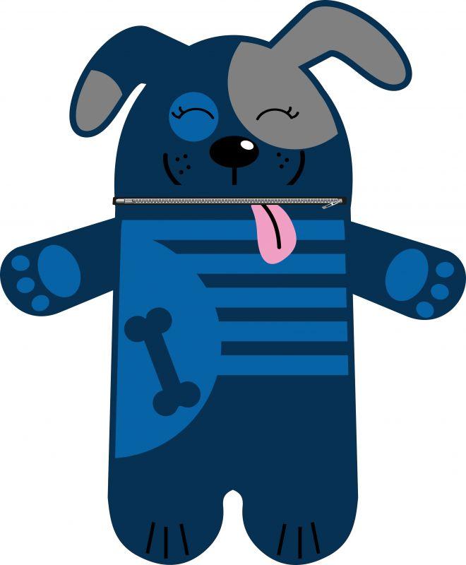 Pyžamožrout - pejsek modrý-SOFT vyrobeno v EU