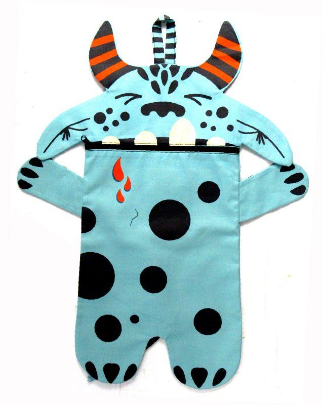 Pyžamožrout - DRAK modrý-SOFT vyrobeno v EU