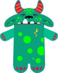 Pyžamožrout  - DRAK zelený-SOFT