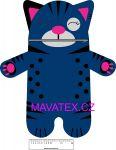 Pyžamožrout  - kočička tmavě modrá -SOFT