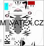 Pyžamožrout - kočička bílá velká -SOFT vyrobeno v EU