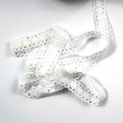 Bavlněná krajka šíře 2 cm – bílá vyrobeno v EU