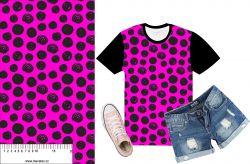 Akvarelové puntíky na růžové- digitální tisk mavaga design