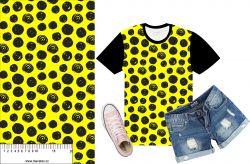 Akvarelové puntíky na žluté- digitální tisk mavaga design
