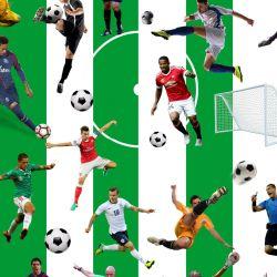 Fotbal -pruhy zelené - digitální tisk