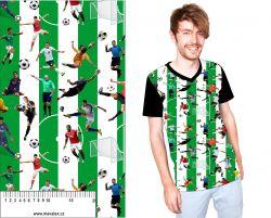 Fotbal -pruhy zelené - digitální tisk mavaga design