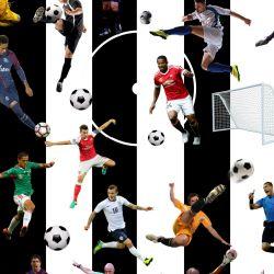 Fotbal -pruhy černé - digitální tisk