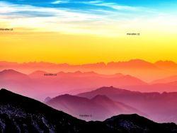 PANEL NA LEGINY /TRIKO -západ slunce- GARZATO