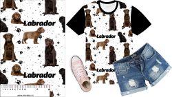 Labrador tmavý na bílé- digitální tisk mavaga design