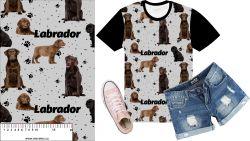 Labrador tmavý na šedé- digitální tisk mavaga design