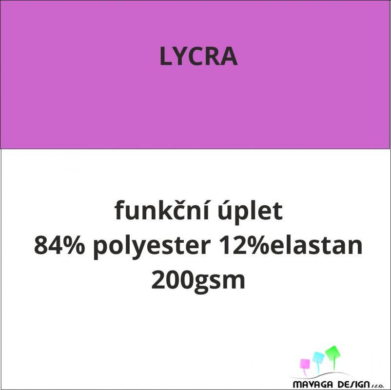 Lycra úplet vlastní vzor -CELOTISK český výrobce
