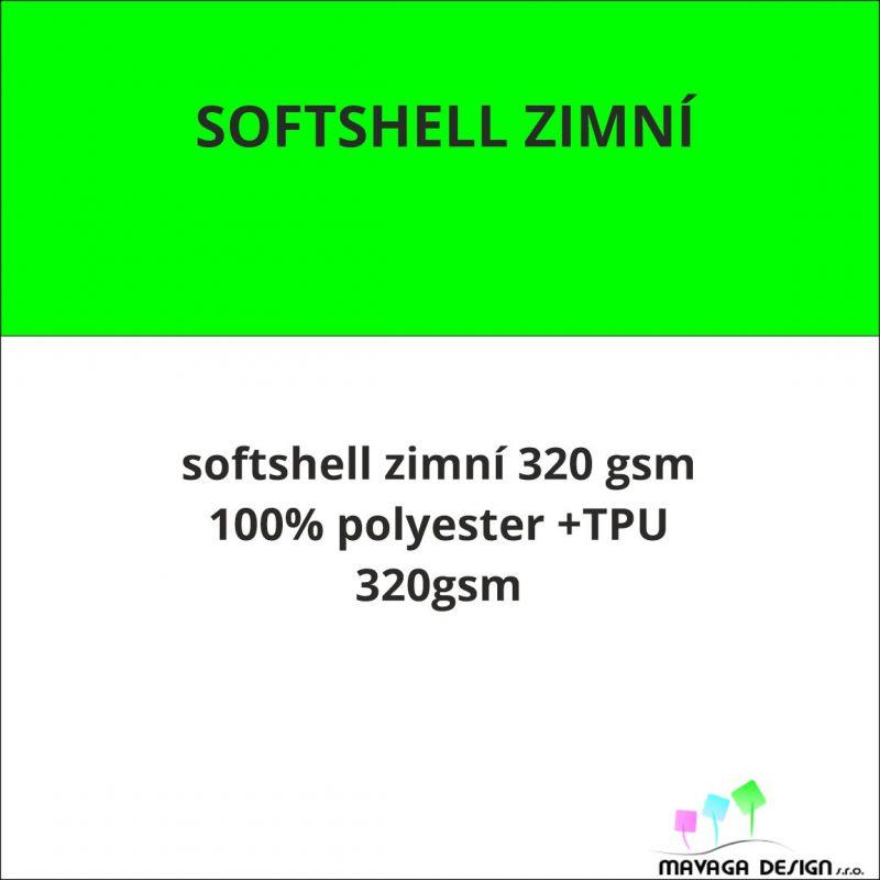 Softshell 320 vlastní vzor -CELOTISK EU-úplety atest pro děti