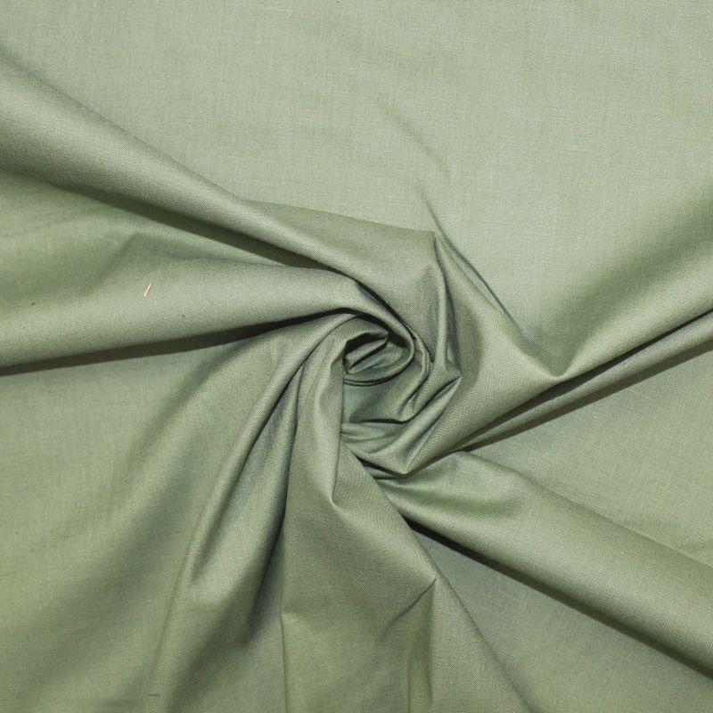 Střední zelená oboustranně barvená bavlna vyrobeno v EU- atest pro děti bavlna
