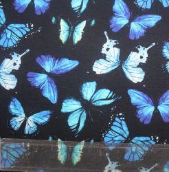 Teplákovina motýlkové na černé -270 gsm EU-úplety atest pro děti