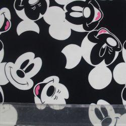 Teplákovina myšáci na černé- 260 gsm vyrobeno v Turecku