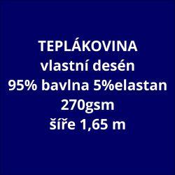 Teplákovina vlastní vzor 270 gsm- cena na kila ( 2,2 m/ kg )