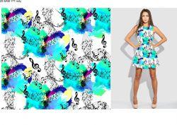 Jednolícní úplet notičky s barevnou batikou- 180 gsm EU-úplety atest pro děti