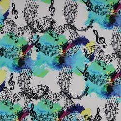 Jednolícní úplet notičky s barevnou batikou- 180 gsm