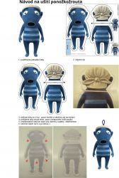 Ponožkožrout - HIHLÍK -softchell vyrobeno v EU- atest pro děti bavlna